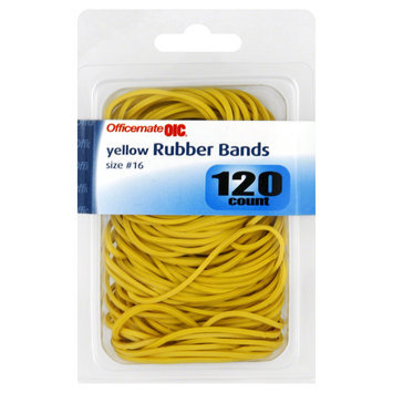 Officemate Rubber Bands, Yellow, Size No. 16, 120 count