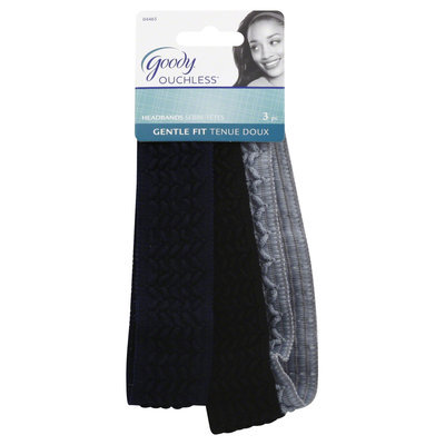 Goody Products Inc. Ouchless V Stitch Headwraps, 3 pcs