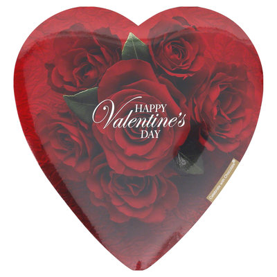 Elmer's Chocolates Valentine's For You Assorted Chocolates in Heart-Shaped Box, 6.8 oz