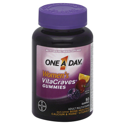 One a Day Men's VitaCraves Gummies Multivitamin/Multimineral Supplement, 50 count