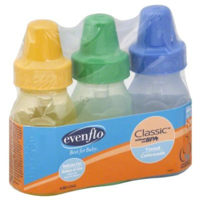 Evenflo Baby Bottles 3 Pack Classic Polypropylene without BPA Tinted