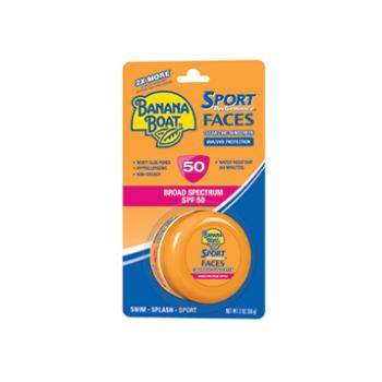 Banana Boat Sport Performance Faces Clear Zinc Lotion Sunscreen