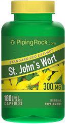 Piping Rock St. John's Wort 300mg Extract 180 Capsules