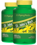 Piping Rock St. John's Wort 300 mg Extract 2 Bottles x 180 Capsules