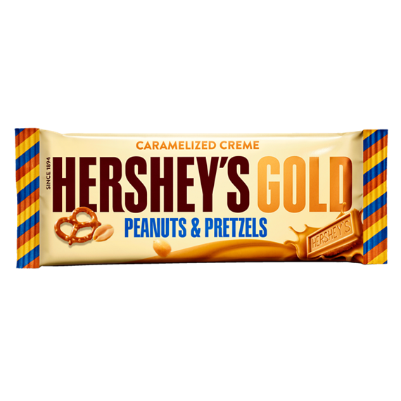 Hershey's Gold Peanuts & Pretzels in Caramelized Crème