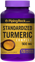 Piping Rock Turmeric Curcumin 500mg 120 Capsules