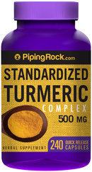Piping Rock Turmeric Extract Curcumin 500mg 240 Capsules
