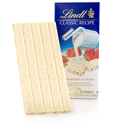Lindt Strawberries And Creme Classic Recipe Bar