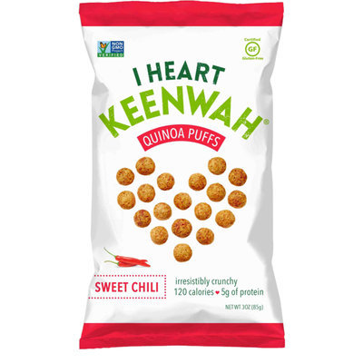 I Heart Keenwah Quinoa Puffs Sweet Chili 3 oz - Vegan