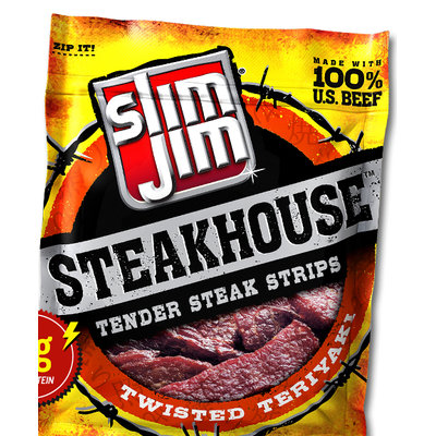 Slim Jim Steakhouse Tender Twisted Teriyaki Steak Strips
