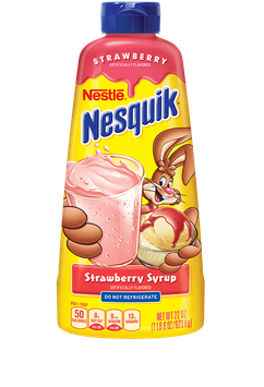 Nestle Nesquik Strawberry Flavored Syrup Plastic Bottle