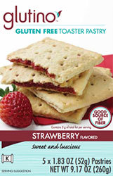 Glutino Strawberry Flavored Gluten Free Toaster Pastries