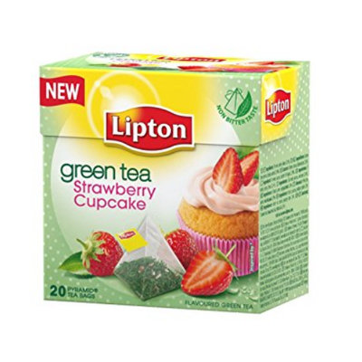 Lipton® Green Tea - Strawberry Cupcake - Pyramid tea bags