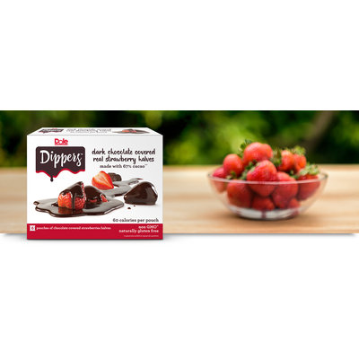 Dole Dippers Dark Chocolate Covered Real Strawberry Halves