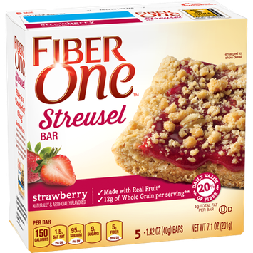 Fiber One Streusel Bar Strawberry
