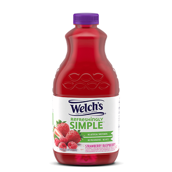 Welch's® Refreshingly Simple Strawberry Raspberry Juice Cocktail