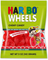 Haribo Wheels Chewy Candy Strawberry