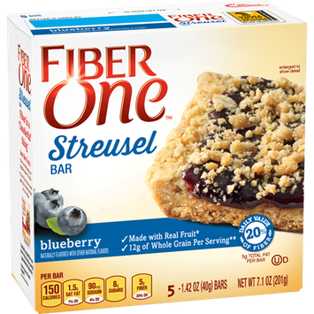 Fiber One Streusel Bar Blueberry
