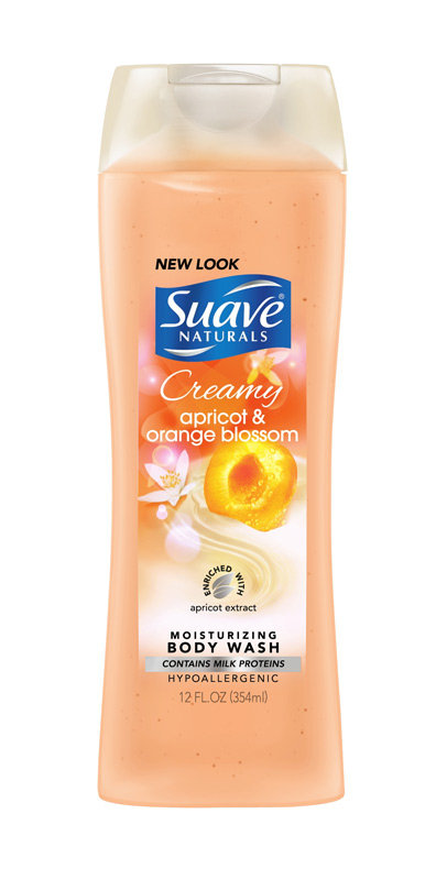 Suave Naturals® Creamy Apricot & Orange Blossom Exfoliating Body Wash