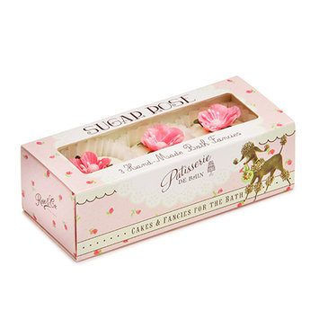 Rose And Co Patisserie De Bain Sugar Rose Hand Made Bath Fancies x 3 Gift Set
