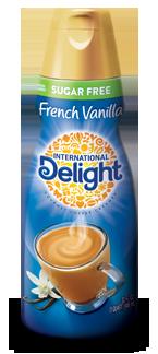 International Delight Sugar Free French Vanilla Coffee Creamer Bottle