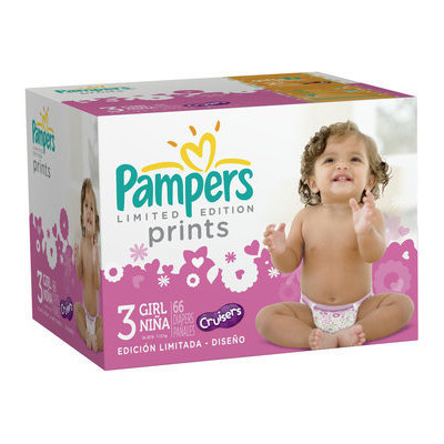 Pampers® Prints Girls Size 3 Diapers