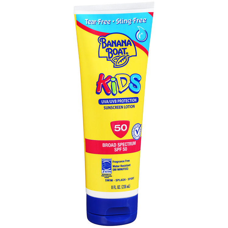 Banana Boat Kids Tear-Free Sting-Free Sunscreen Lotion With SPF 50+