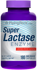 Piping Rock Lactase Enzyme Dairy Digest 180 Capsules