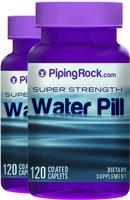 Piping Rock Water Pills Super Strength 2 Bottles x 120 Coated Caplets