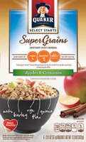Quaker® Select Starts Super Grains Apples & Cinnamon Instant Hot Cereal