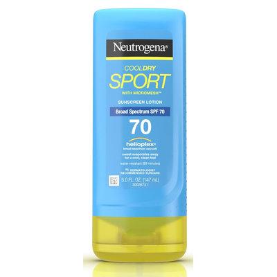 Neutrogena® CoolDry Sport Sunscreen Lotion Broad Spectrum SPF 70