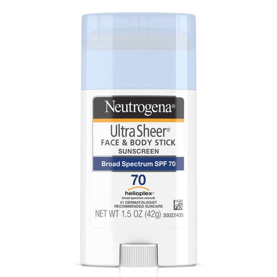 Neutrogena® Ultra Sheer® Face + Body Stick Sunscreen Broad Spectrum SPF 70
