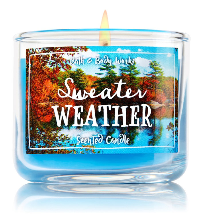 Bath Body WorksR Sweater Weather 1 Wick Mini Candle Reviews 2019