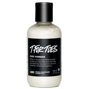 LUSH Cosmetics T for Toes Foot Powder