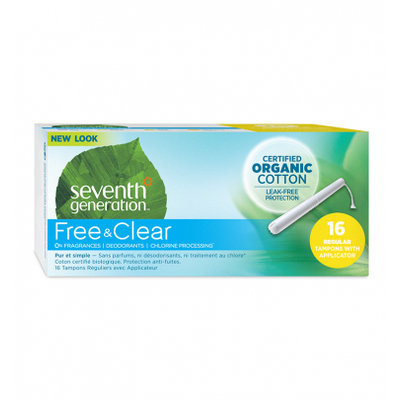 Seventh Generation Free & Clear Applicator Regular Tampons