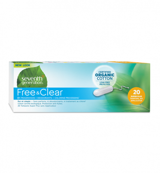Seventh Generation Free & Clear No Applicator Super Plus Tampons