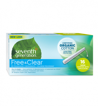 Seventh Generation Free & Clear Applicator Super Tampons