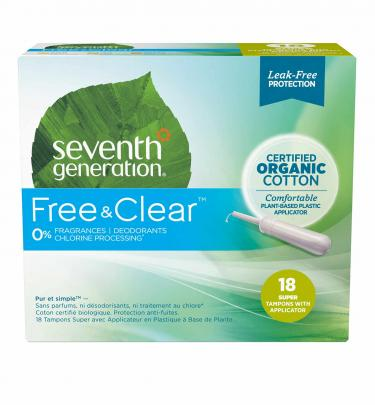 Seventh Generation Free & Clear Comfort Applicator Super Absorbency Tampons