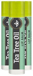 Piping Rock Tea Tree Oil Lip Balm 3 Pack (3 Tubes x 0.15 oz)
