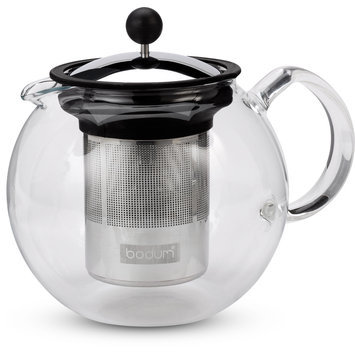 Bodum Assam Glass Tea Press Stainless Steel Filter 1lt