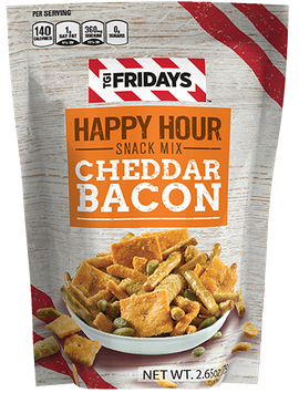 TGI Fridays Happy Hour Snack Mix Cheddar Bacon