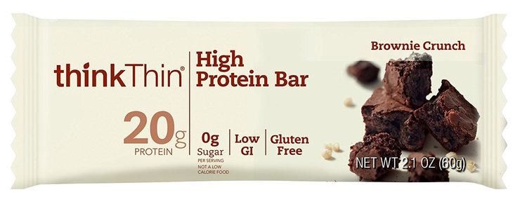 Thinkthin Brownie Crunch High Protein Bar Reviews 2019