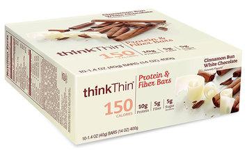 thinkThin Cinnamon Bun White Chocolate Protein & Fiber Bars