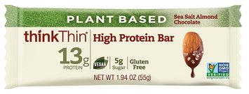 thinkThin High Protein Bar Sea Salt Almond Chocolate (Vegan)