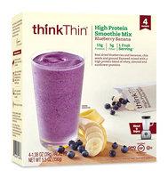 thinkThin High Protein Smoothie Mix Blueberry Banana