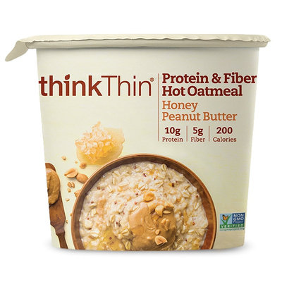 thinkThin Honey Peanut Butter Protein & Fiber Hot Oatmeal