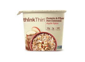 thinkThin Protein & Fiber Hot Oatmeal Apple Spice