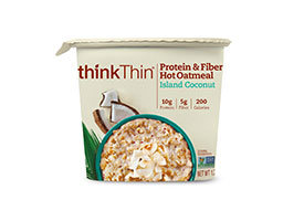 thinkThin Protein & Fiber Hot Oatmeal Island Coconut