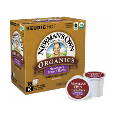 Newman's Own K-Cup French Roast Dark Roast Coffee