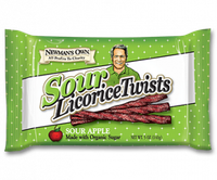 Newman's Own Sour Apple Licorice Twists